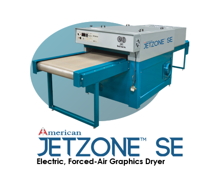 JetZone™ SE Electric forced-air graphics dryer