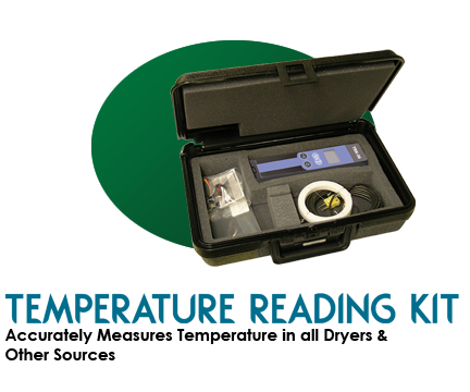 Temperature Reading Kit for UV, Air, InfraRed and Quartz Dryers